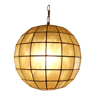 Capiz Shell Globe Pendant Light