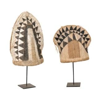 Pair of Ethnic Bark Fiber Hats