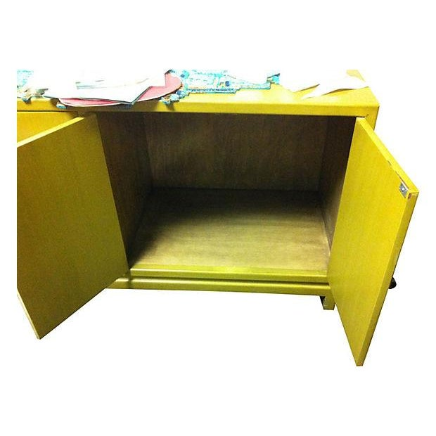 Chartreuse Asian Style Lacquered Credenza - Image 7 of 7