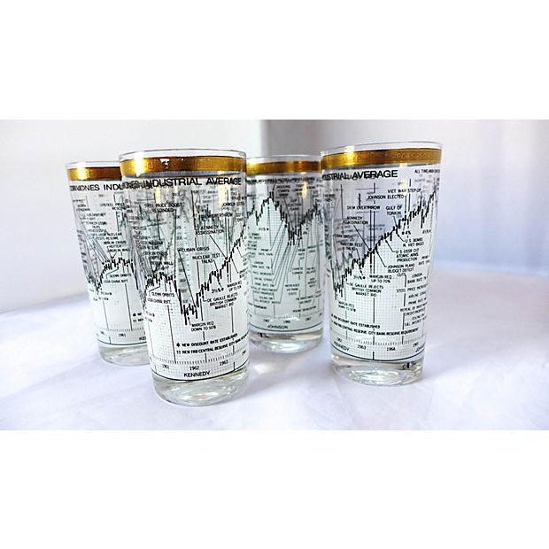 Neiman Marcus Stock Market Glasses - Set of 6 - Image 6 of 6