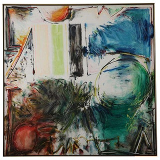 Large Abstract Painting by Joyce Weinstein