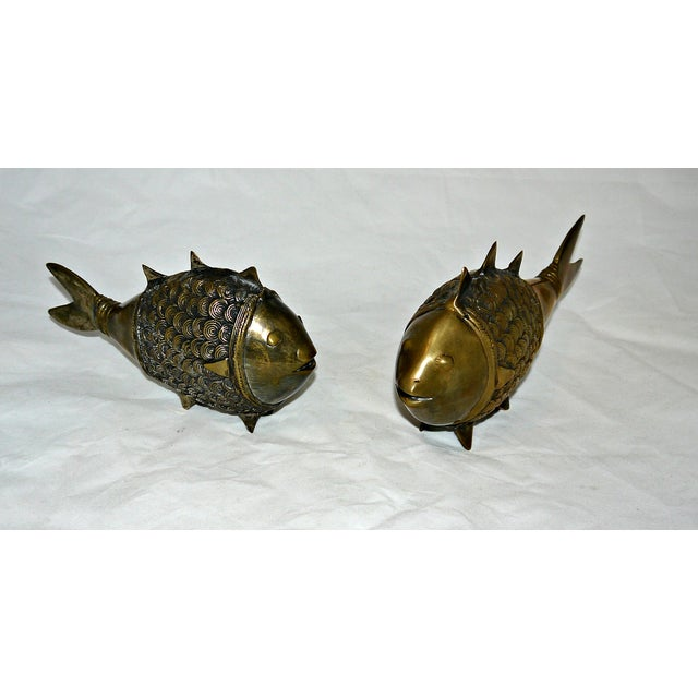 Brass Dokra Indian Fish - A Pair - Image 5 of 8
