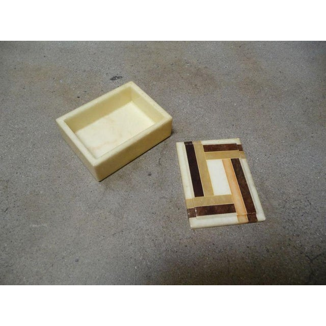 Vintage Italian Alabaster Box - Image 2 of 4