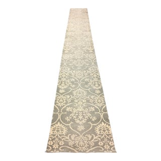 Hand Knotted Wool Nepal Runner - 2′9″ × 21′11″