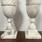 Image of Neoclassic Marble Table Lamps - a Pair