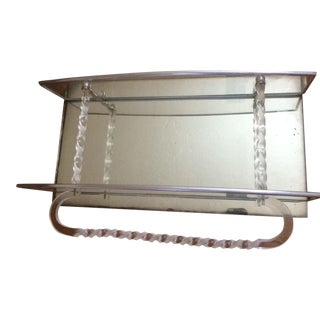 Art Deco Lucite Mirrored Shelf