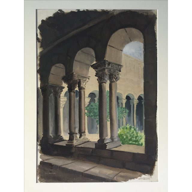 French Columns Watercolor By A J Broder Chairish