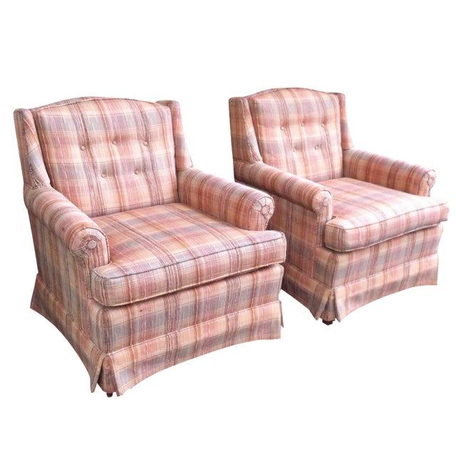 Vintage Ethan Allen Club Chairs - A Pair - Image 1 of 8