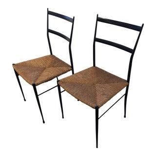 Italian Design Gio Ponti Leggera Chairs - a Pair