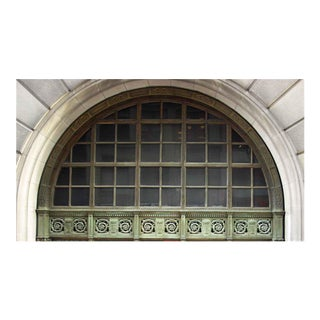 Ornate Bronze Palladian Window Transom
