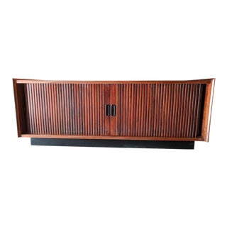 Mid Century Tambour Record Credenza by Dillingham