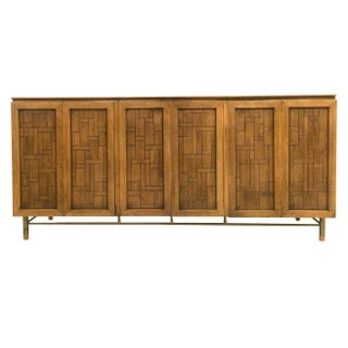 Johnson for John Stuart Walnut Marble Top Credenza