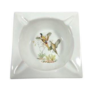 Vintage Hyalyn Porcelain Flying Pheasant Ashtray