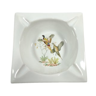 Vintage Hyalyn Porcelain Flying Pheasant Ashtray