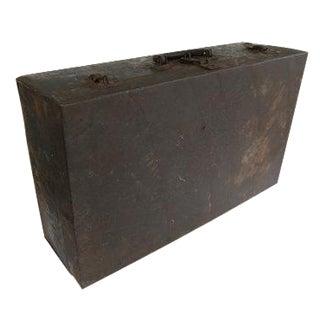 Vintage Large Industrial Metal Storage Box Suitcase