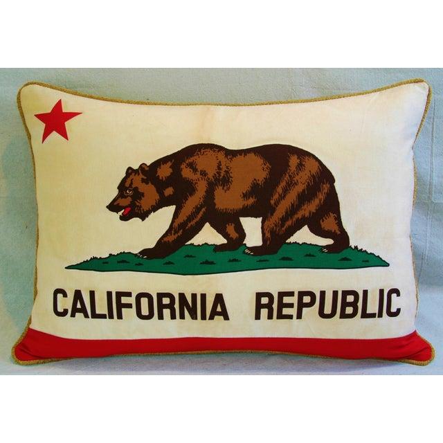 Jumbo California Republic Bear Flag Pillow - Image 2 of 11