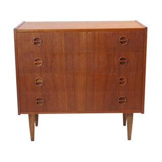 Danish Modern Gentlemen's 4 Drawer Dresser