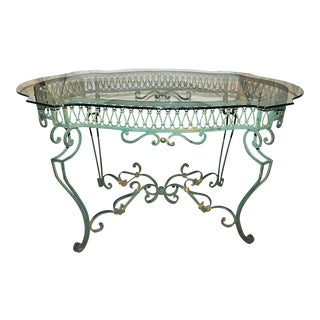 Green Wrought-Steel Dining Table