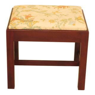 Kittinger Chippendale Colonial Williamsburg Mahogany Foot Stool