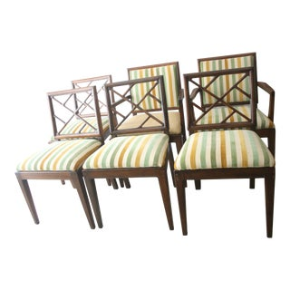 Mid-Century Chippendale Style Chairs- Set of 6