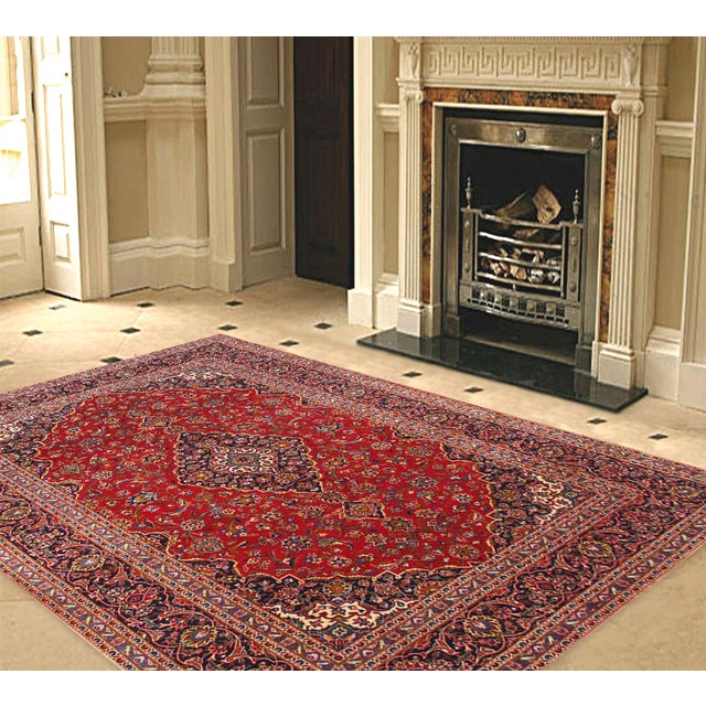 "Pasargad Kashan Collection Rug - 7'10"" X 11'3"" - Image 2 of 2"
