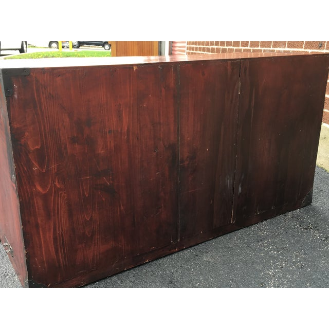 Two Drawer Primitive Chest with Metal Hardware - Image 10 of 10