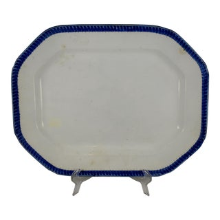 English Leeds Feather or Shell Edge pearlware Platter