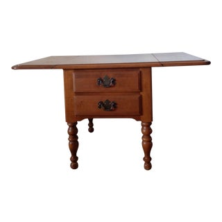 Ethan Allen Heirloom Drop-Leaf End Table