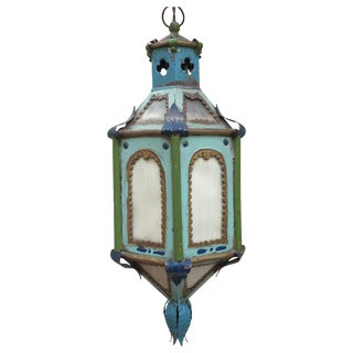 Antique Boho Chic Hanging Lantern