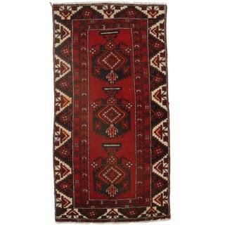 RugsinDallas Hand-Knotted Wool Persian Hamedan - 3′6″ × 6′8″