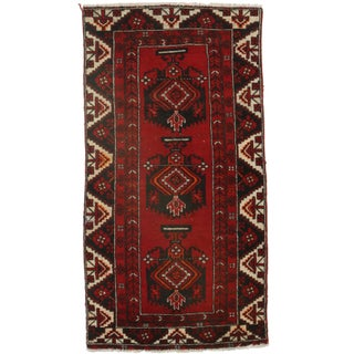 Hand-Knotted Wool Persian Hamedan - 3′6″ × 6′8″