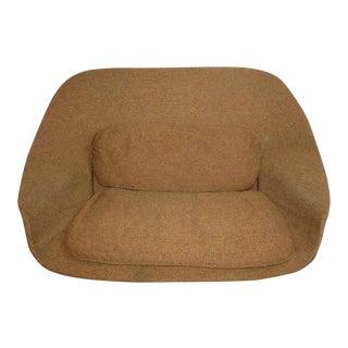 1960's Saarinen Knoll Womb Apple Caramel Upholstered Loveseat