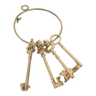 Large Brass Skeleton Keys