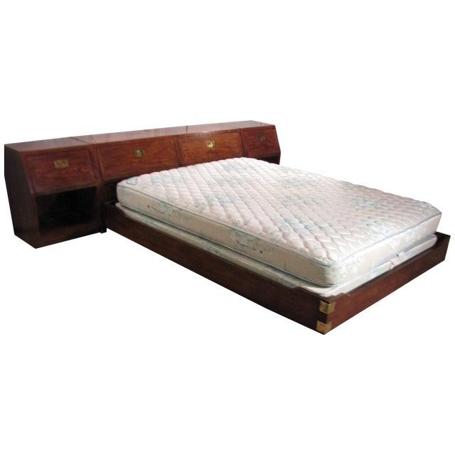 Image of Heirloom Campaign Bed, Backboard & Nightstands