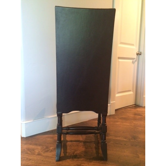 Image of Chocolate Brown Leather High Back Dining Chairs-8