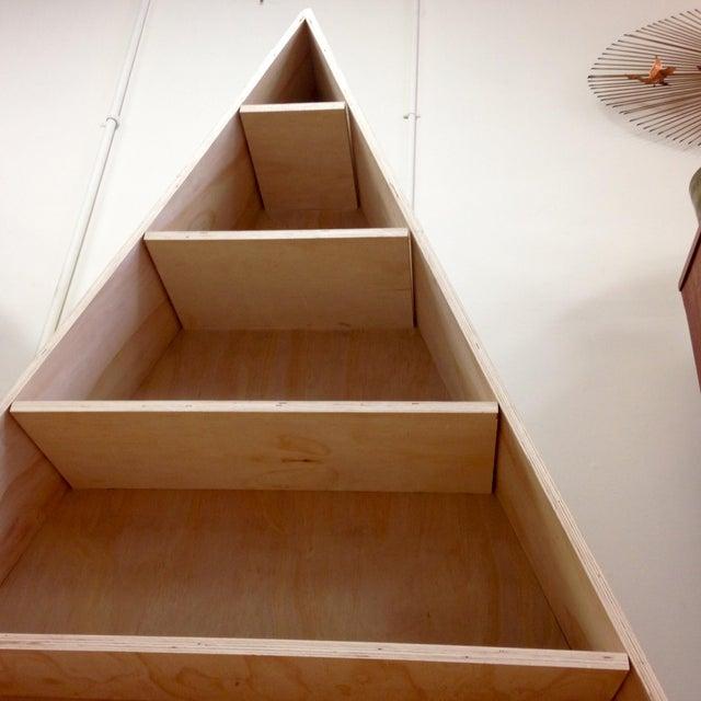 Triangular Natural Maple Bookshelf - Image 8 of 8