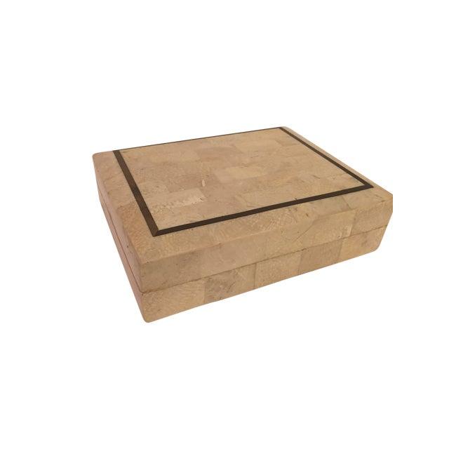 Tessellated Stone Maitland Smith Style Box - Image 1 of 4