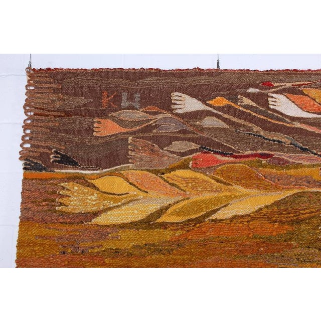 """Large Tapestry by Krystyna Wojtyna-Drouet Titled """"Fruit"""" - Image 8 of 10"""