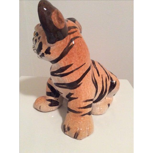 Image of Vintage Italian Ceramic Tiger Cub Figurine