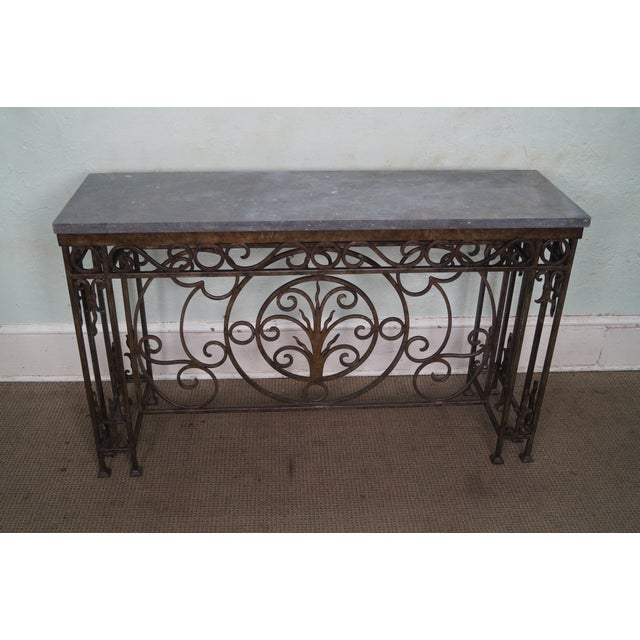 Iron Gothic Style Slate Top Console Table - Image 2 of 10