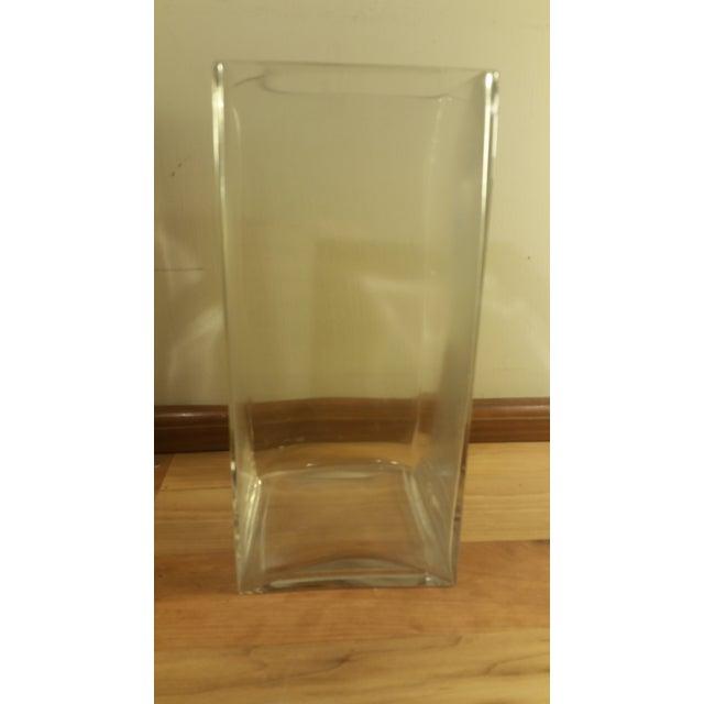 Image of Rectangular Glass Vase