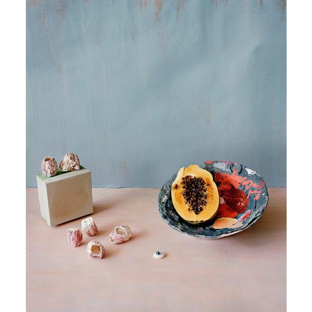 Image of Still Life Photograph With Papaya and Shells