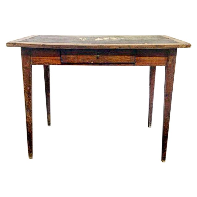 French Vintage Desk With Drawer - Image 1 of 10