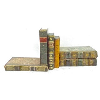 Antique Leather Bound Books - Set of 6