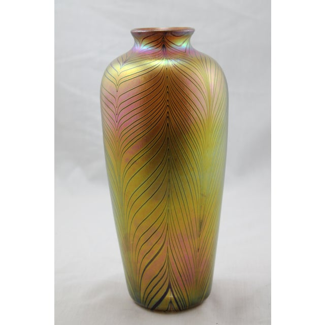 Contemporary Steuben Style Gold Vase - Image 4 of 11