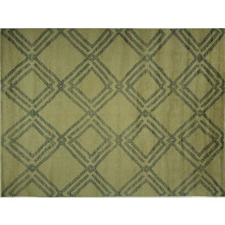 Diamond Moroccan Hand Knotted Rug - 10' x 13'