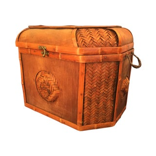Large Woven Picnic Basket