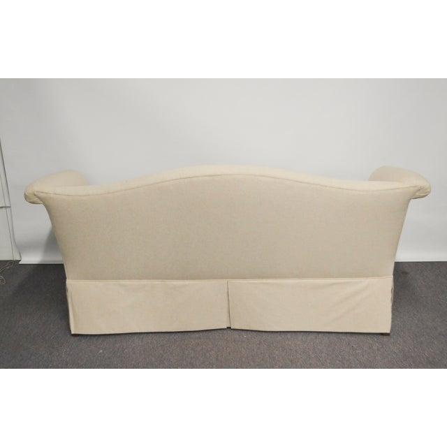 Vintage Linen Upholstered Loveseat - Image 2 of 4