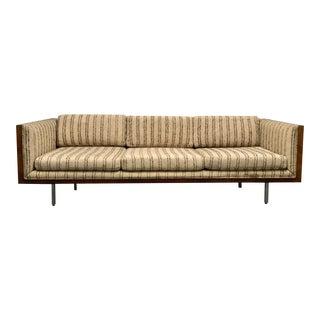 Mid-Century Milo Baughman Burl Walnut Case Sofa