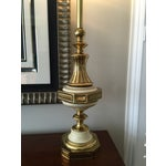 Image of Vintage Stiffel Brass Tourchiere Lamps - A Pair